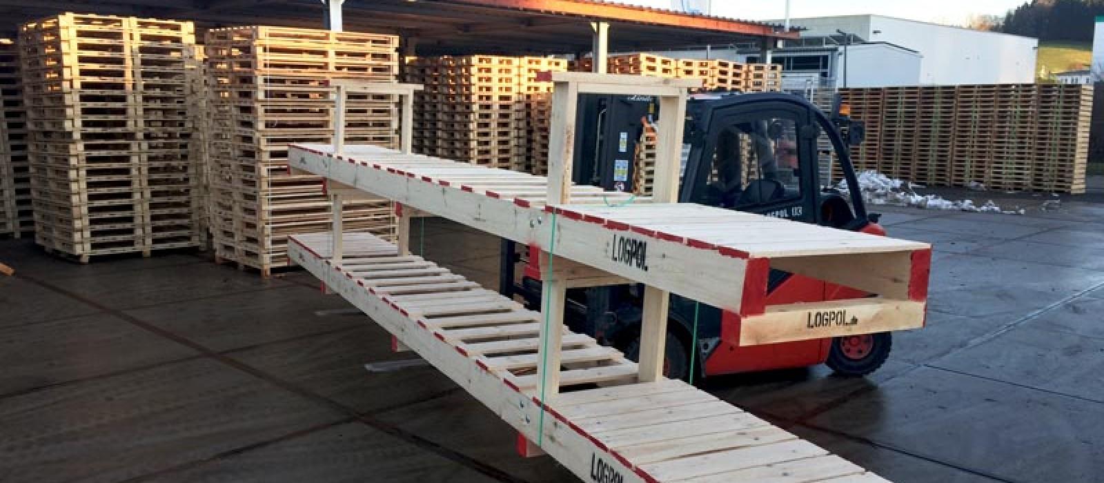 Holzlanggutpalette 7500×800